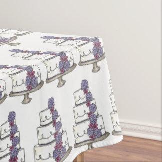 Floral Wedding Anniversary Bridal Shower Cake Tablecloth