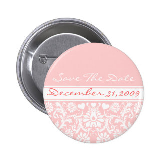 Floral Wedding Change to Any Color 6 Cm Round Badge
