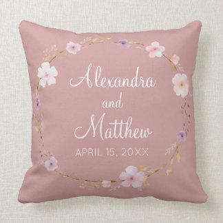 Floral Wedding Crown Cushion