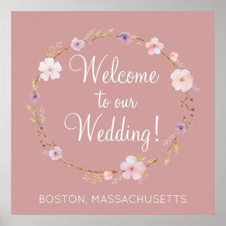 Floral Wedding Crown Poster