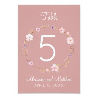 Floral Wedding Crown - Table Number