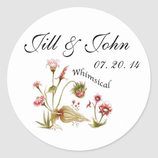 Floral Wedding Favour Stickers