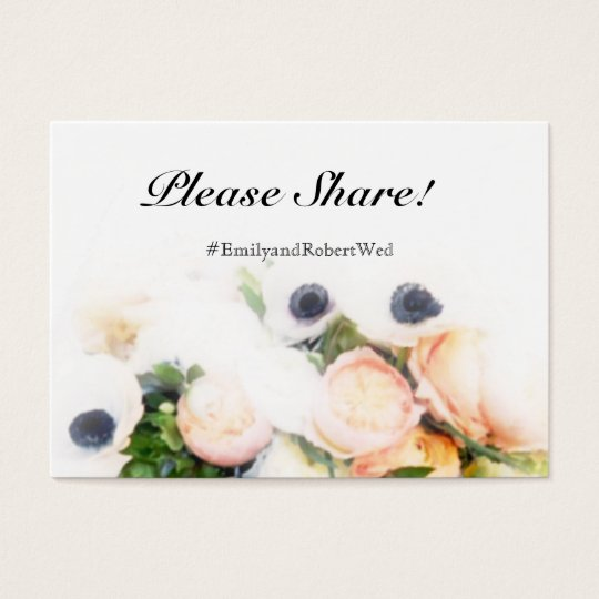 Floral Wedding Hashtag Cards