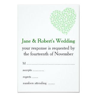 Floral Wedding in Bright Green 9 Cm X 13 Cm Invitation Card
