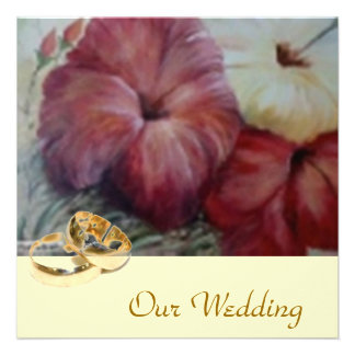 FLORAL WEDDING PERSONALIZED INVITES
