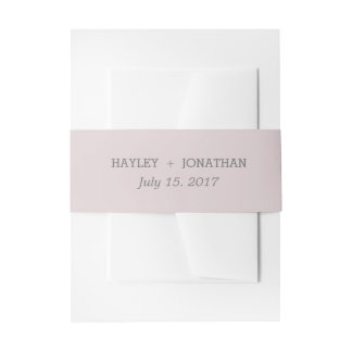 Floral Wedding Invitation Belly Band