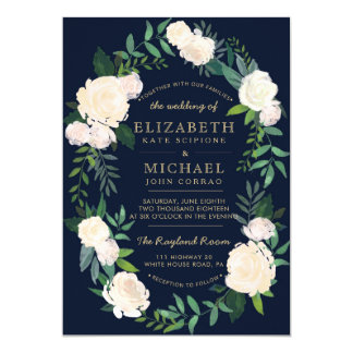 Floral Wedding Invitation Printable
