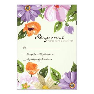 Floral wedding invitation rsvp card