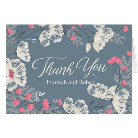 "Floral Wedding Related ""Thank You"" Card"