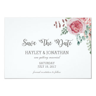 Floral Wedding Save The Dates Card