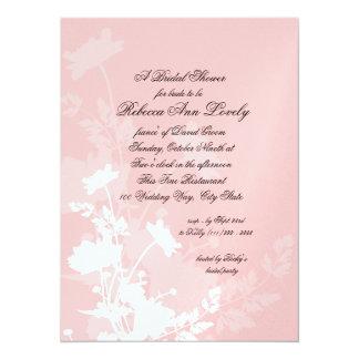 Floral Wedding Shower 14 Cm X 19 Cm Invitation Card