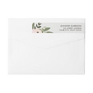 Floral Wedding Sprigs return address label