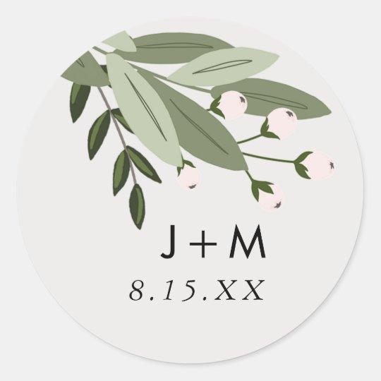 Floral Wedding Sprigs Sticker