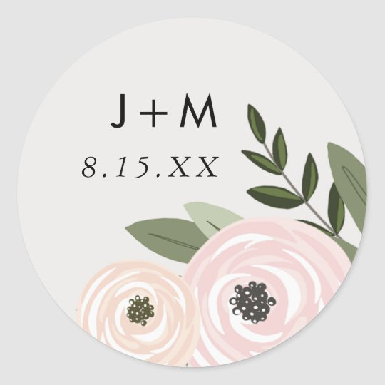 Floral Wedding Sprigs Sticker