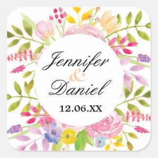 Floral Wedding Stickers Elegant Flower Labels