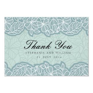 Floral Wedding Thank You Card in Blue 9 Cm X 13 Cm Invitation Card