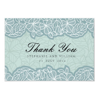 "Floral Wedding Thank You Card in Blue 3.5"" X 5"" Invitation Card"