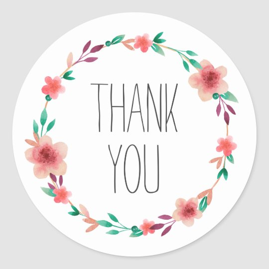 Floral Wedding Thank You Flower Wreath Favour Classic
