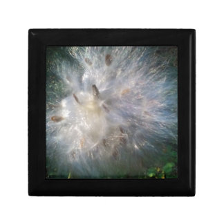 Floral Weed Blowing In The Wind Small Square Gift Box