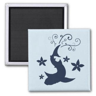 Floral Whale Shark Vector Art Magnet