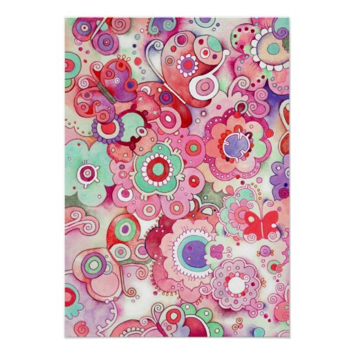 Floral Whimsy Art Print