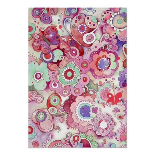 Floral Whimsy Art Print