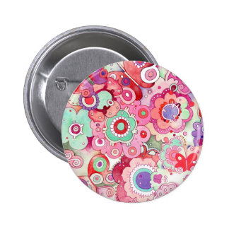 Floral Whimsy Button