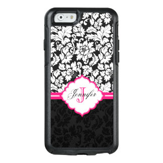 Floral White And Black Damask With Monogram OtterBox iPhone 6/6s Case