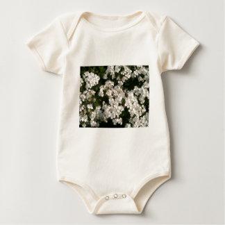 Floral White Baby Bodysuit
