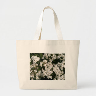 Floral White Tote Bags