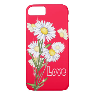 Floral White Daisy Flower Pink Love iPhone 7 iPhone 7 Case