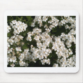 Floral White Mouse Pad