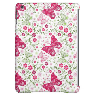 Floral White Pattern Case For iPad Air