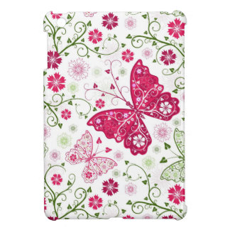 Floral White Pattern Case For The iPad Mini