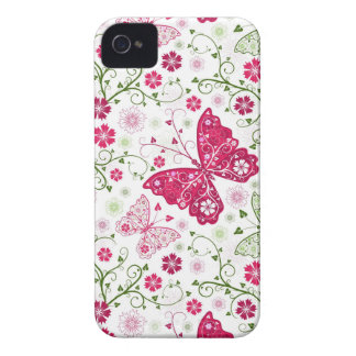 Floral White Pattern iPhone 4 Case