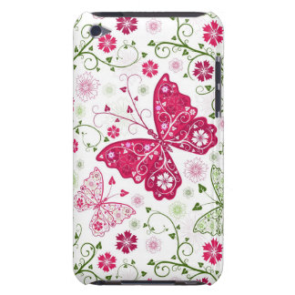 Floral White Pattern iPod Case-Mate Cases