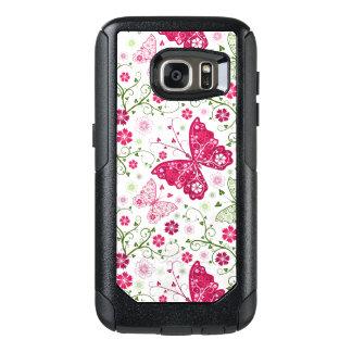 Floral White Pattern OtterBox Samsung Galaxy S7 Case