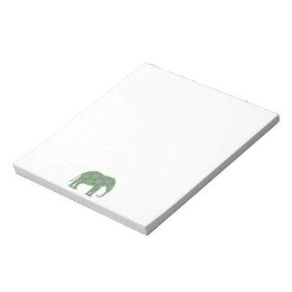 Floral Wild Elephant Notepad