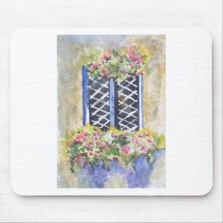 FLORAL WINDOW MOUSEPAD