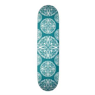 Floral winter snowflake 19.7 cm skateboard deck