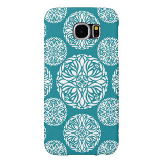 Floral winter snowflake samsung galaxy s6 cases