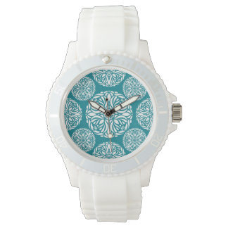 Floral winter snowflake watch