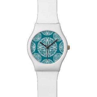 Floral winter snowflake wristwatch