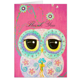Floral Wishes - Thank You Greeting Card