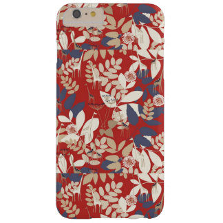 Floral with giraffe barely there iPhone 6 plus case