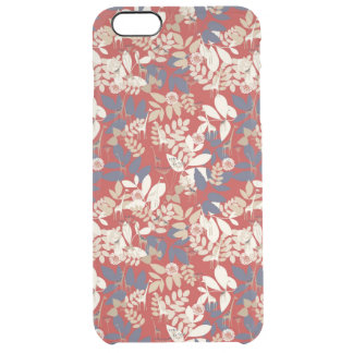 Floral with giraffe clear iPhone 6 plus case