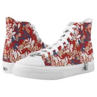 Floral with giraffe high tops