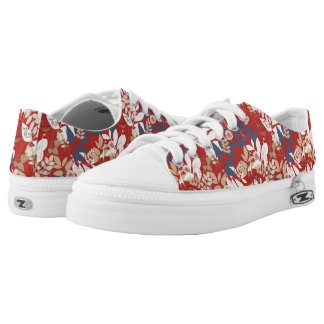 Floral with giraffe low tops