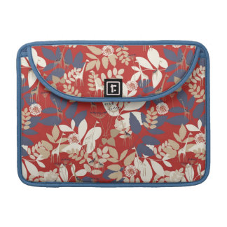 Floral with giraffe sleeve for MacBooks