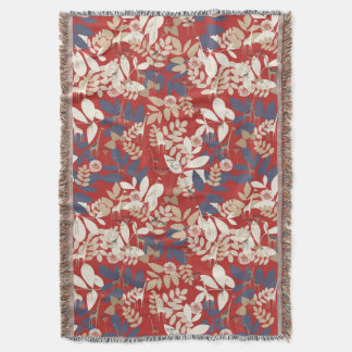 Floral with giraffe throw blanket